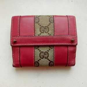 💯Auth Gucci cute wallet